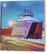 Philip R.clarke West Pier Sault Ste.marie Michigan -3124 Wood Print