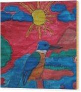 Philippine Kingfisher Painting Contest 4 Wood Print