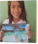Philippine Kingfisher Painting Contest 7 Wood Print