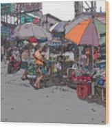 Philippines 708 Market Wood Print