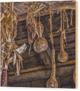 Philipsburg Manor - Gourds And Flint Corn Wood Print