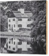 Philipsburg Manor House - Reflections - Bw Wood Print