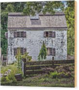 Philipsburg Manor House - Thru The Woods Wood Print