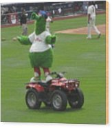 Phillie Phanatic Wood Print