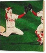 Phillies Win The World Series Wood Print