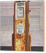 Phillips 66 Antique Gas Pump Wood Print