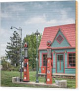 Phillips 66 Gas Station Wood Print