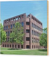 Phillips Exeter Academy Louis Kahn Library Wood Print