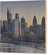 Philly Before Dawn From South Street Wood Print