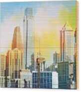 Philly From Drexel Hill Wood Print
