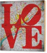 Philly Love V1 Wood Print