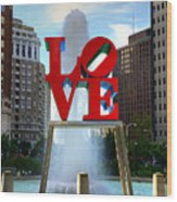 Philly Love Wood Print