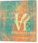 Philly Love V10 Wood Print