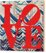 Philly Love V17 Wood Print