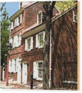 Philly Row House 2 Wood Print by Paul Barlo
