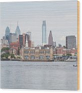 Philly Skyline Wood Print