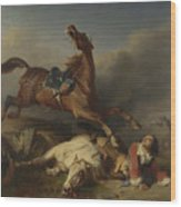 Philogene Tschaggeny   An Episode On The Field Of Battle Wood Print