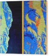 Philosopher - Socrates 2 Wood Print