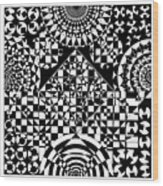 Philosophers Kaleidoscope Wood Print