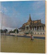 Phnom Penh Royal Palace Plaza Wood Print