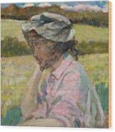 Phoebe At Onteora Wood Print