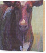 Phoebe Of Merry Mead Farm Wood Print by Susan Williamson