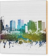 Phoenix Cityscape 01 Wood Print