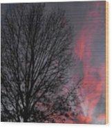 Phoenix Cloud Rising Wood Print