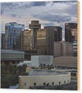Phoenix Downtown Skyline Wood Print