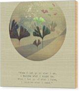 Phoenix-like Wood Print