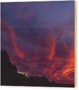 Phoenix Risen Wood Print
