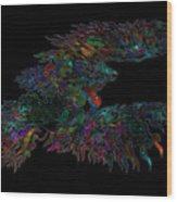 Phoenix Rising Galaxy Wood Print