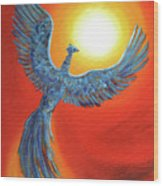 Phoenix Rising Wood Print