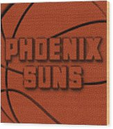 Phoenix Suns Leather Art Wood Print