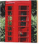 Phone Booth Wood Print