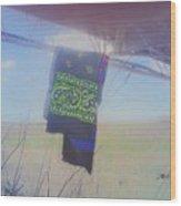 Phone Cam 508 Abandoned Bandana Wood Print