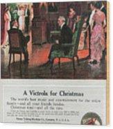 Phonograph, 1914 Wood Print