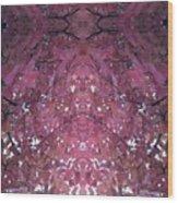 Photo 0800 Autumn Tree Leaves Fractal  E1 Mid Top  Wood Print