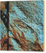 Line In The Rock Wood Print