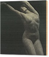 Photo Of Female Sculpture By The Artist Wood Print