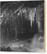 Photographer At Vernal Falls Wood Print