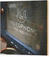 Photophone Wood Print