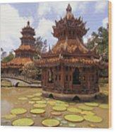Phra Kaew Pavillion Wood Print