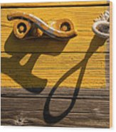 Pi Theta Shadows - Dock Cleat And Rope Wood Print