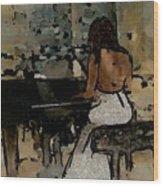 Pianist #0077 Wood Print