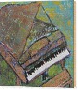 Piano Aqua Wall Wood Print