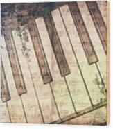 Piano Days Wood Print