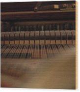 Piano Guts Wood Print