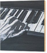 Piano Hands Plus Metronome Wood Print
