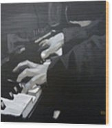 Piano Hands Wood Print